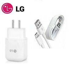 LG ORIGINAL FAST ADAPTIVE CHARGER+TYPE C USB CABLE FOR LG G5,G6,G7 G8 ThinQ