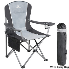 Oversized Camping Folding Chair Heavy Duty Arm Chair Portable Support 350 LBS