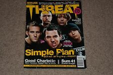 """""""SIMPLE PLAN"""" SIGNED AUTOGRAPHED THREAT MAGAZINE SIGNED BY 4 W/ PIERRE BOUVIER"""
