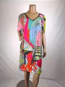 "Volt Overlay Tunic Dress ""Flo RAG Size 2 In Volt Sizing Small Chiffon Overlay"