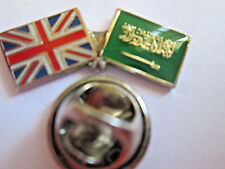 Saudi Arabia & Uk Friendship Enamel Metal Lapel Pin  -24 x 8mm  -L048