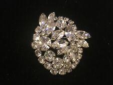 Vintage Kramer brooch pin Clear Rhinestones