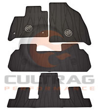 2018-2020 Buick Enclave GM Front & 2nd & 3rd Row All Weather Floor Mats Black