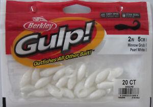 "BERKLEY GULP!  2"" Minnow Grub (20/Ct Pack) - Pearl White"