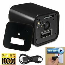 HD 1080P Hidden Nanny UX-8 Camera Camcorder DVR USB AC Wall Adapter Charger SPY
