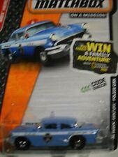 MATCHBOX 56 BUICK CENTURY  POLICE CAR SEDAN ON CARD