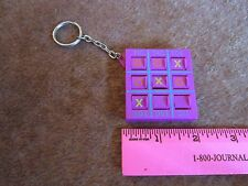 """Tic Tac Toe Key Ring Game 2"""" plastic fob that really works! FREE SHIP"""
