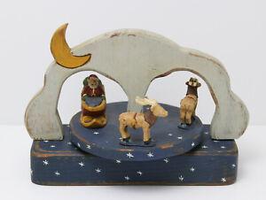 "Wolf Creek Folk Art Santa & Reindeer Musical Merry Go Round  ""Here Comes Santa"""