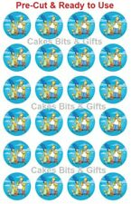24x SIMPSONS Edible Wafer Cupcake Toppers PRE-CUT Ready to Use Homer Marg Bart