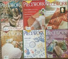 Piecework magazines 1997 Lot of 6  needlework And History Hand in Hand