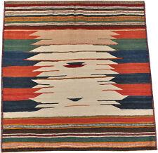 Kelim Sofreh Kembo 123 x 120 cm des nomades de persans kélim tapis 1604