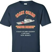 COAST GUARD STATION CAPE MAY * NEW JERSEY *COAST GUARD VINYL PRINT SHIRT/SWEAT