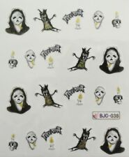 Halloween Nail Art Water Decals Transfers Skelton Trick or Treat Skull (BJC38)