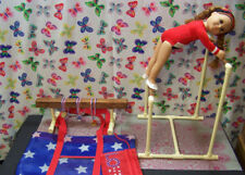 "BARS & BEAM GYMNASTIC SET fits American Girl Doll & all 18"" dolls Mats Carry Bag"