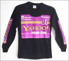 New YAHOO Racing Team logo graphic printed long sleeve cotton t-shirt - size SM