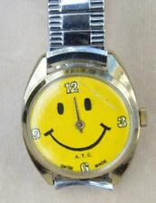 VTG c.1980th A.T.C. Swiss Made hand wind mechanical Men's Smiley Face Watch