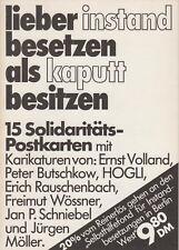 Lieber instandbesetzen ... 15 Soli-PK für Hausbesetzer, Karikaturen, Berlin 1981