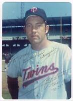 Original Autograph PSA/DNA of Stan Williams of the Twins on a 3.5x5 Photo