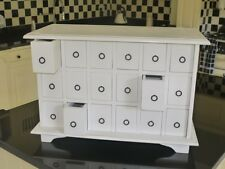 Shabby Chic Painted Spice Cabinet 18 Drawers Retro style Storage Chest White