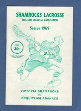 1969 SHAMROCKS LACROSSE WESTERN LACROSSE PROGRAM: COQUITLAM at VICTORIA, JUNE 18