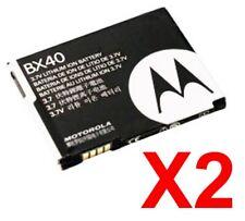 Lot Of 2 Oem Motorola Oem Battery Bx40 Moto Razr Razr2 V9 V9M Q9 Q9M Q9H