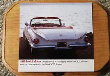 1960 Buick LeSabre Convertible Car Plaque