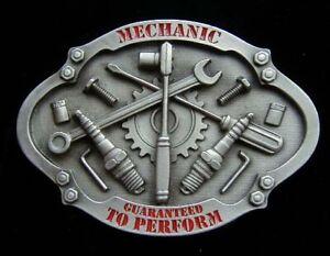 MECHANIC GUARANTEED TO PERFORM BELT BUCKLE NEW!