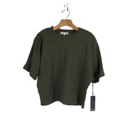 Richer Poorer Grown Up Crop Tee T-Shirt Women's Ivy Green Size M Medium NWT