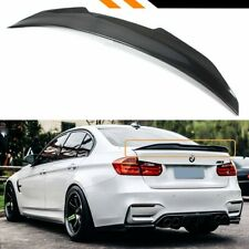 BMW 3 SERIES F30 (M3 M4 V STYLE) BOOT LIP SPOILER CARBON LOOK 100% OEM FIT