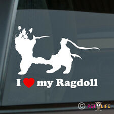 I Love my Ragdoll Sticker Die Cut Vinyl cat feline kitten