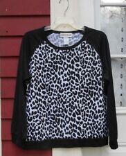 "Cathy Daniels Black/White Animal Print Long Sleeved Crew Neck Sweater Medium 44"""
