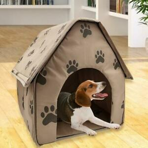 Portable Dog House Foldable Winter Pet Bed Nest Tent Cotton Cat Puppy Kennel