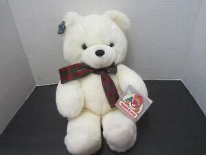 "Rare 1988 Applause SNOWBALL BEAR White Wind-Up Musical Plush Vintage 15"""