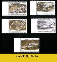 GREECE 2020, ANCIENT GREEK THEATERS, STAMPS, FULL SET, MNH