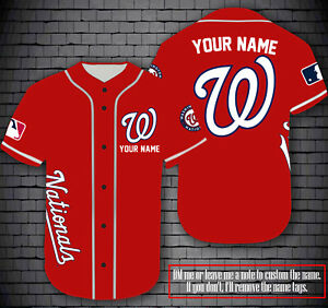 Personalized Nationals Fanmade Jersey Custom Name - Red