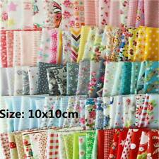Lot 100Pcs Assorted Bundle Quilt Quilting Cotton Fabric DIY Sewing