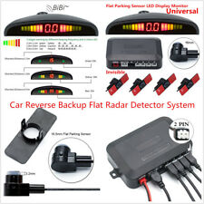 Car Reverse Backup Flat Radar Detector System w/LED Dispaly Monitor Flat Sensors