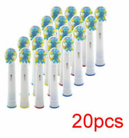 20 pcs New For Braun Oral B FLOSS ACTION Electric Toothbrush Head Replacements