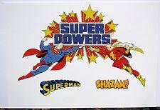DC SUPER POWERS PRINT  - SUPERMAN vs SHAZAM