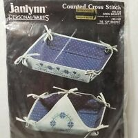 Vintage Janlynn Counted Cross Stitch Open Basket #35-248 - New/Sealed