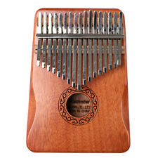 More details for 17 keys mahogany wood kalimba musical instrument thumb piano for beginner uk