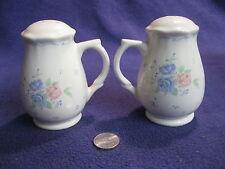 Ivory Tall Mug Tri-color Roses Salt and Pepper Shakers Ceramic    79
