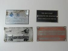 Vintage Assorted Travel Trailer Emblems Nameplate RV Airstream Shasta Rare LOT6