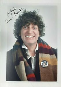 Tom Baker HAND-SIGNED, dedicated Photo 10x8 Dr Who