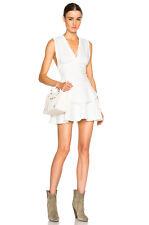 NEW IRO TAMMY V NECK DRESS Size US 2 FR 38 $478 ECRU NORDSTROM