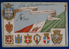 DISTRETTO MILITARE DI TREVISO reggimentale viaggiata  1909 f/p  #21294