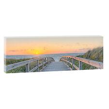 Weg zum Strand 2 Bild Wandbild Strand Meer Leinwand Poster XXL 120 cm*40 cm 620