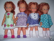 """NG Creations Sewing Pattern #PP-68 fits 12"""" Ideal Cinnamon Doll makes 16 Dresses"""