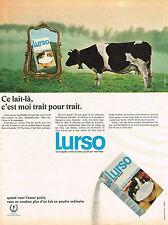 PUBLICITE  1969   LURSO   lait écrémé en poudre