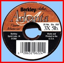 Berkley Advanta Select 3x-5 lb Monofilament Fly Fishing Tippet Material